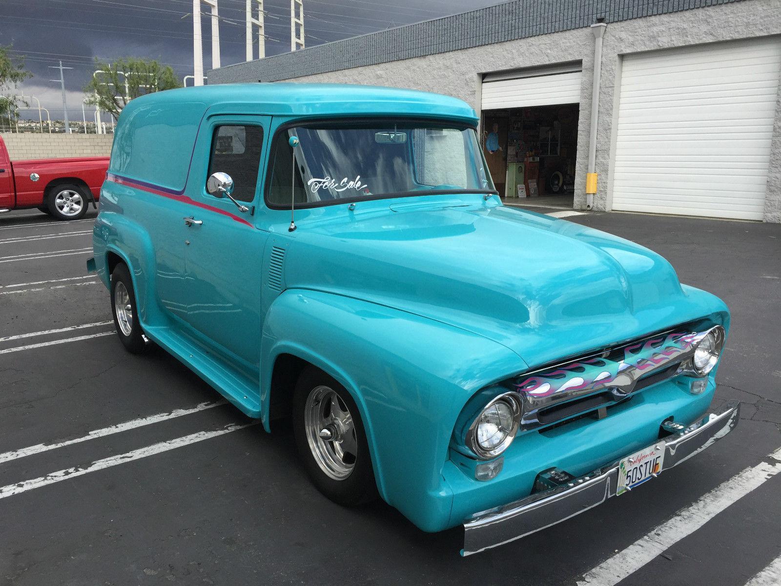 1956 f100 custom ford panel truck for sale. Black Bedroom Furniture Sets. Home Design Ideas