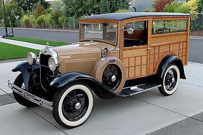 1930 Ford Model A Wood Panel Special Delivery for sale