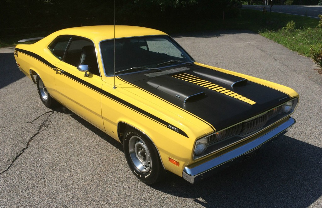 1971 plymouth duster 340 in lemon twist for sale. Black Bedroom Furniture Sets. Home Design Ideas