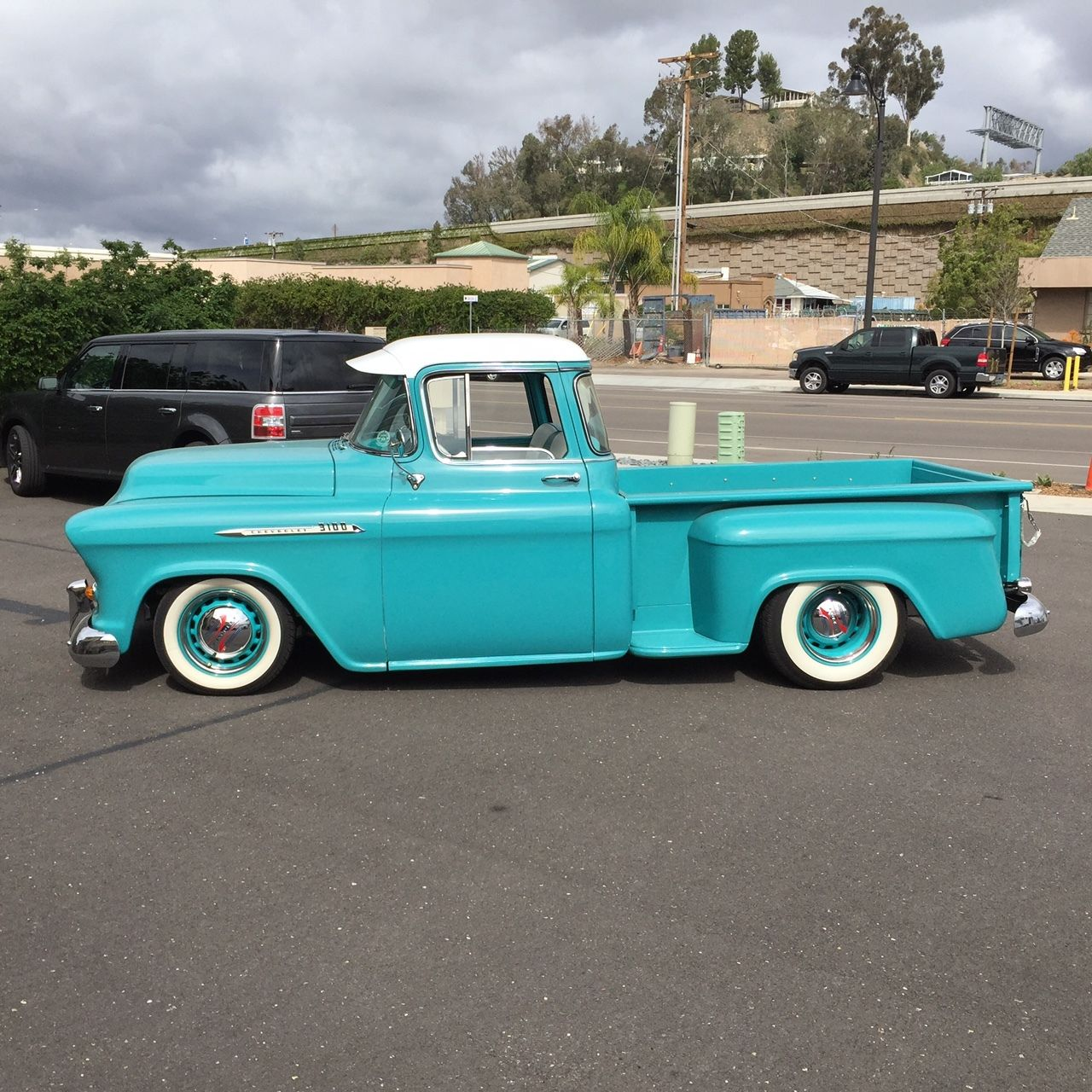 custom 1956 chevy 1 2 ton truck for sale. Black Bedroom Furniture Sets. Home Design Ideas