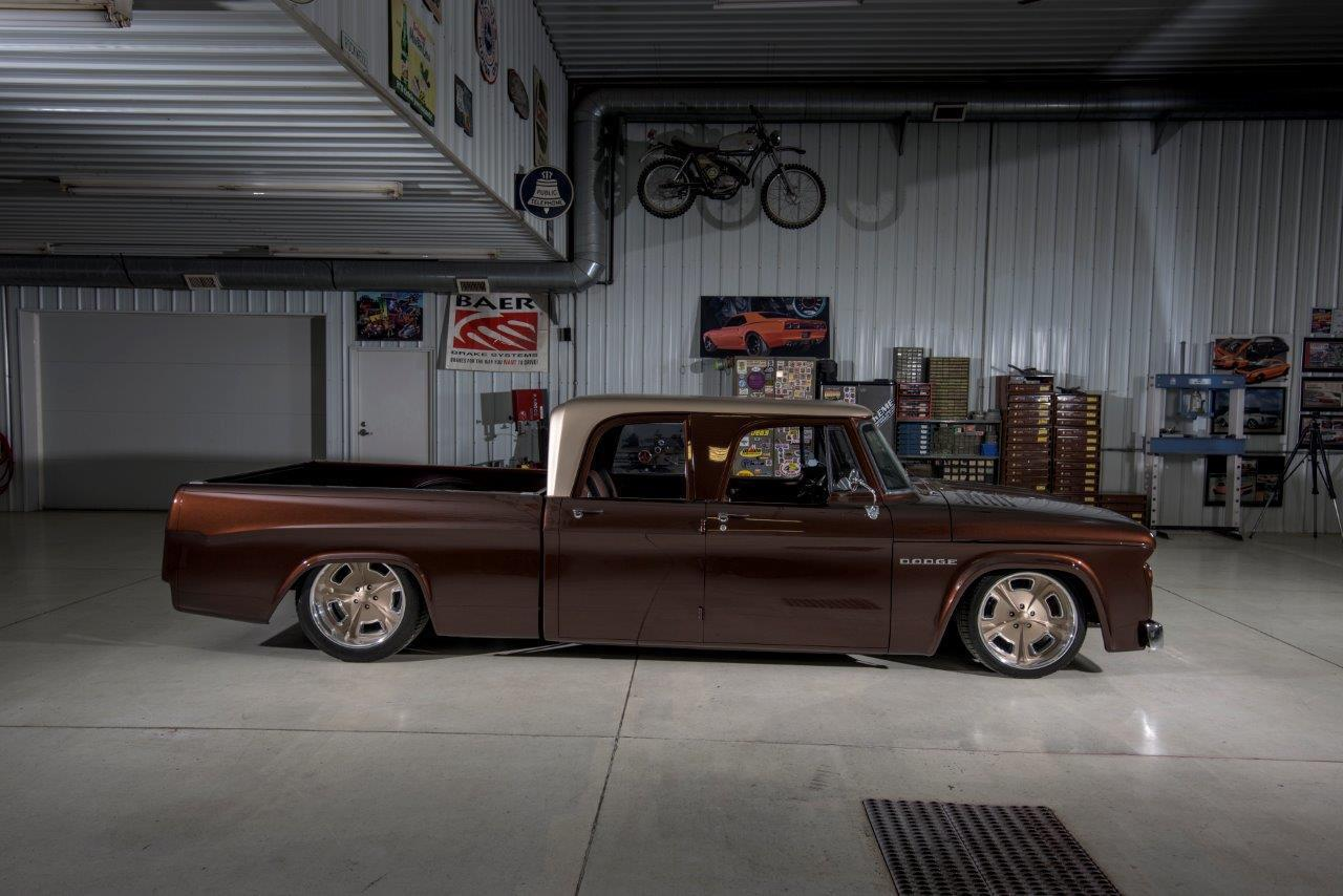 1969 dodge d200 crew cab whiskeybent sema build by lakeside rods for sale. Black Bedroom Furniture Sets. Home Design Ideas